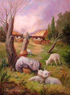Illusional painting.