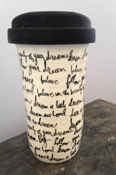 Travel Mug, Ceramic Travel Mug, Mug, Coffee Mug, Tea Mug, Coffee Travel Mug, Handmade by RuthiesPottery by RuthiesPottery on Etsy