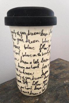 Travel Mug, Ceramic Travel Mug, Mug, Coffee Mug, Tea Mug, Coffee Travel Mug, Handmade by RuthiesPottery by RuthiesPottery on Etsy