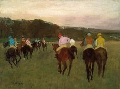 """87 Likes, 2 Comments - Denver Art Museum (@denverartmuseum) on Instagram: """"Edgar Degas' painting """"Racehorses at Longchamp"""" is this week's #ArtworkOfTheWeek! On loan from the…"""""""
