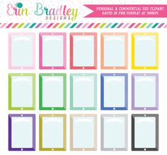 Tablet Clipart – Erin Bradley/Ink Obsession Designs