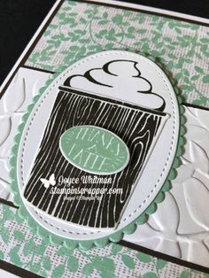 Our Second Coffee Cafe Card from Stamp Camp Beautiful Color Combinations, Colour Combinations, Nature Poem, Coffee Cafe, 3d Projects, Embossing Folder, Stampin Up, About Me Blog, Things To Think About