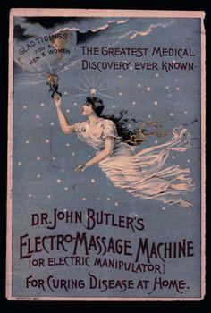 John Butler's Electro-Massage Machine or Electric Manipulator.  For Curing Disease At Home. suzilove.com
