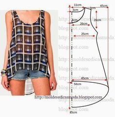 swing tank top sewing pattern - Google Search More