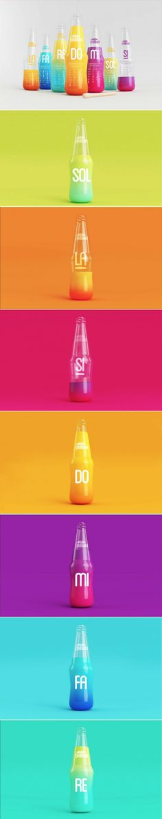 Feel the Beat with this Musically-Minded Beverage Concept — The Dieline Juice Packaging, Glass Packaging, Beverage Packaging, Cosmetic Packaging, Print Packaging, Photography Career, Innovation News, Art Graphique, Design Thinking