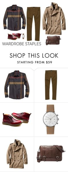 """""""Big plaid."""" by ice-cream-is-nice-cream ❤ liked on Polyvore featuring GUESS, RVCA, Junghans, Banana Republic, FOSSIL, men's fashion, menswear, plaid and WardrobeStaples"""