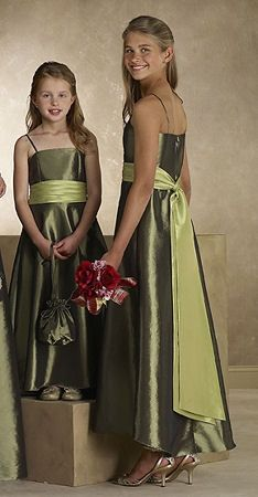 junior brides maids dresses but in pink and a little shorter