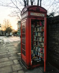 """98.5k Likes, 902 Comments - @LONDON (@london) on Instagram: """"London's smallest #library? It's the #Lewisham Phone Booth Book Exchange ☺📚❤ 