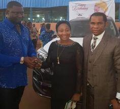 Nigerian Bilionaire Escoba Smith Gifts His Pastor A 2017 Toyota Prado [Photos]