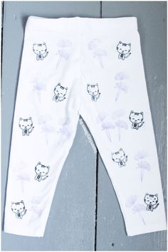 CAT AND THISTLE HAND STAMPED DIY TODDLER LEGGINGS