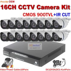 629.09$  Buy now - http://aligx6.worldwells.pw/go.php?t=32606799676 - 900TVL CCTV System 16ch DVR 16pcs 900TVL Outdoor IR Cameras 8ch DVR Kit Security Camera System CIF DVR with HDMI CCTV Camera Set 629.09$