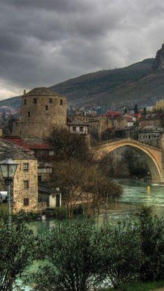 Mostar, Bosnia and Herzegovina Places To Travel, Places To See, Places Around The World, Around The Worlds, Wonderful Places, Beautiful Places, Bosnia Y Herzegovina, Mostar Bosnia, Adventure Is Out There