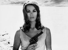 "Dominetta ""Domino"" Vitali. My favorite Bond Girl. ""My dear, uncooperative Domino."" -James Bond. 007 Theme, Claudine Auger, Bond Girls, Action Movies, James Bond, Poses, Film, Lady, Guns"