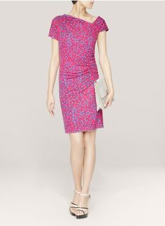 See By ChloéContrast-sleeve printed jersey dress cotton-silk 175€