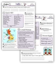 Anglais CE2 French Lessons, English Lessons, English Fun, Learn English, Esl Resources, French School, Cycle 3, School Lessons, English Vocabulary