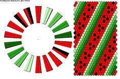 Kumihimo Pattern-Watermelom-36 Strands-K5544 - friendship-bracelets.net