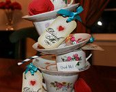 Items similar to custom auction for 2 teacup centerpieces on Etsy