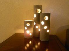luminárias de PVC simples