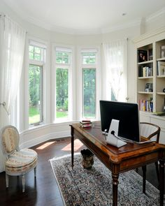 1000 images about home office ideas on pinterest bay for Office window ideas