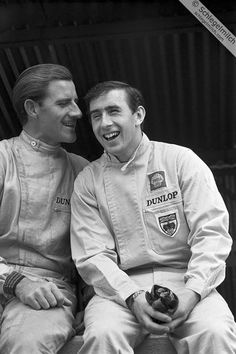 Timeless Photograph portraying expression of Sir Graham Hill and Sir Jackie Stewart.