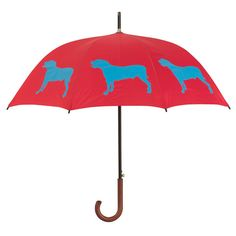 Pit Bull Umbrella ~ Identify yourself and your favorite dog breed with this beautiful rain umbrella featuring an American Pit Bull Terrier silhouette image. Take this stylish umbrella with you to the park, on walks, on errands … wherever it's raining, this umbrella shows your devotion to Pit Bulls.