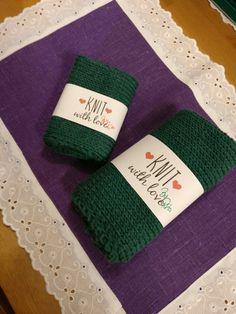 Klut og håndkle strikket i bomull #julegave #håndarbeide #christmas #jul #christmaspresent