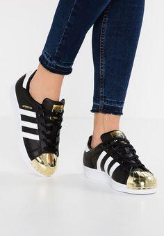 adidas Originals SUPERSTAR - Sneaker low - core black/white/gold metallic - Zalando.de