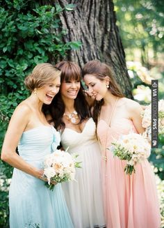 Loving these pretty pastel Donna Morgan Bridesmaids Dresses | CHECK OUT MORE IDEAS AT WEDDINGPINS.NET | #weddings #bridesmaids #bridal #dresses #fashion #forweddings