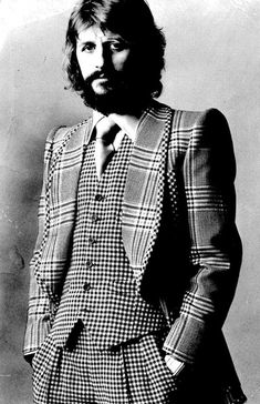 Ringo Starr wearing a 3-piece suit by Tommy Nutter.