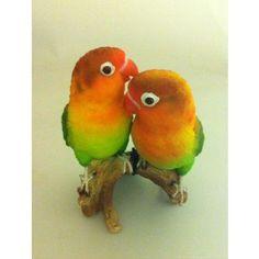 Love Birds Pair Real Life Ornament by Vivid Arts - Garden Ornaments - Gardening   Mill Race Garden Centre