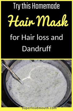 Try this homemade Hair mask for Hair Loss and Dandruff treatment Natural Hair Loss Treatment, Dandruff Remedy, Natural Hair Mask, Natural Hair Styles, Diy Hair Mask For Dandruff, Natural Beauty, Herbal Cure, Hair Weaves, Natural Hair