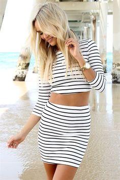 Pin Stripe Tube Skirt | SABO SKIRT