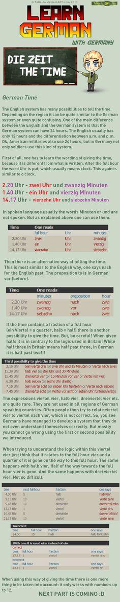 Learn German - Time by TaNa-Jo on DeviantArt