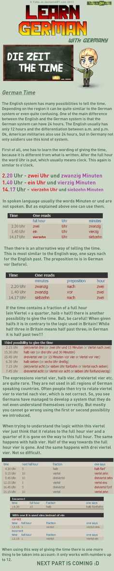 Learn German - Time by TaNa-Jo on DeviantArt