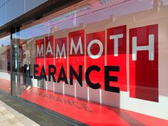 Coes Mammoth Clearance Event - campaign — WHAT associates Ltd Window Graphics, Visual Merchandising, Identity, Campaign, Neon Signs, Personal Identity