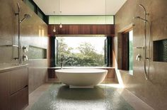 We've flipped through the pages and dug around in the Queensland Homes archives to find you just some of our favourite featured bathrooms. Master Bedroom Bathroom, Modern Master Bedroom, Bathroom Basin, Bathroom Renos, Rural House, Architecture Awards, Queenslander, Courtyard House, Custom Built Homes