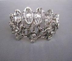 Beautiful modernist bracelet made of oxidized pewter Tapani Vanhatalo. The bracelet comes with it's original box. Link Bracelets, Bracelet Making, Jewelry Shop, Etsy Store, Pewter, 1970s, Silver Rings, Bling, Diamond