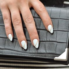 Here's a nutty new manicure trend: almond nails, named for the rounded shape of the nut. (Searches for almond nails +97%)