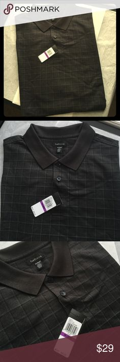 NWT Men's VanHeusen Polo-Size 2XL-XXL NWT Men's VanHeusen Polo-Size 2XL-XXL. Originally $60! Would also make a great gift! Charcoal Black Color with Black and Gray Checker Design. 58% Cotton 42% Polyester. Fast Shipping! Smoke Free Home! Open to Offers on my Items or 15% off Bundles! 🎉Top 10% Seller!🎉 Van Heusen Shirts Polos