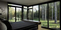 Glass walled estate