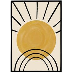 Vintage Pop Art, Vintage Prints, Sun Illustration, Illustrations, Framed Art, Framed Prints, Sun Painting, Pop Art Posters, Geometric Poster