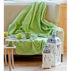 Deka Cotton Cloud 150x200cm slnečná zeleň     #deka#denmatiek#darcek Cotton Clouds, Warm, Blanket, Home, Ad Home, Blankets, Homes, Cover, Comforters