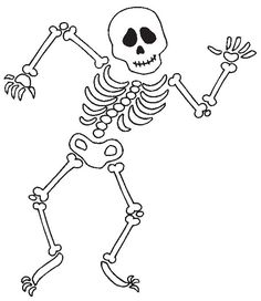 Dibujos de calaveras para colorear en Halloween - printable skeleton