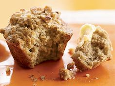 Better-For-You Banana-Walnut Muffins - Homemade muffins provide smarter portion sizes than store-bought options, but low-fat recipes often produce dry or tasteless results. We used healthier fats in just the right amounts to keep our muffins moist yet light, and filled them with yummy fruit and nuts.