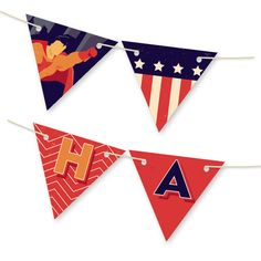 'Super Heroes Banner Personalizable Bunting Banner', on Minted.com