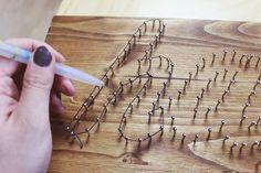 Meine kleine bunte Welt: DIY Fadenbild (String Art)