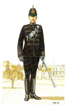 A District Inspector in ceremonial uniform. He would often inspect the barracks. British Soldier, British Army, Cops And Robbers, British Uniforms, Police Uniforms, Military History, 19th Century, Irish, Empire