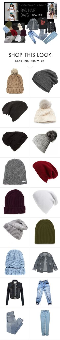 """""""Bad Hair Day Beanies"""" by persephone3401 ❤ liked on Polyvore featuring BRIT*, Chicnova Fashion, The North Face, SIJJL, Black, Neff, Halogen, Aéropostale, Phase 3 and UGG Australia"""