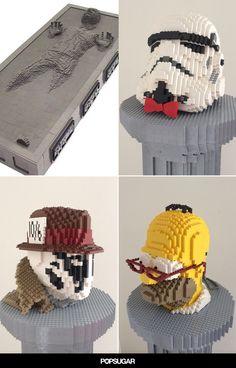 Awesome geek #lego art by Nathan Sawaya