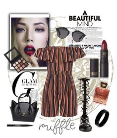 """""""#ruffles"""" by annabelle2222 on Polyvore featuring WearAll, Lipstick Queen, Christian Dior, Raye, Trish McEvoy, West Coast Jewelry, Inspiritu and ruffles"""